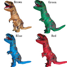 INFLATABLE Dinosaur T REX Costumes For Adult Red Green Blue Brown T-Rex Dinosaur Halloween Inflatable Party Costume For Men