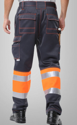 men's reflective pant with side pockets mens cargo pants men's safety working pant Mens High Visibility Trousers orange 1pcs 2