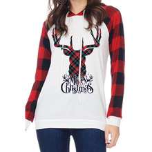 woman hoodies sweatshirts ladies Christmas long sleeve  deer printed autumn winter new clothing sweat shirts