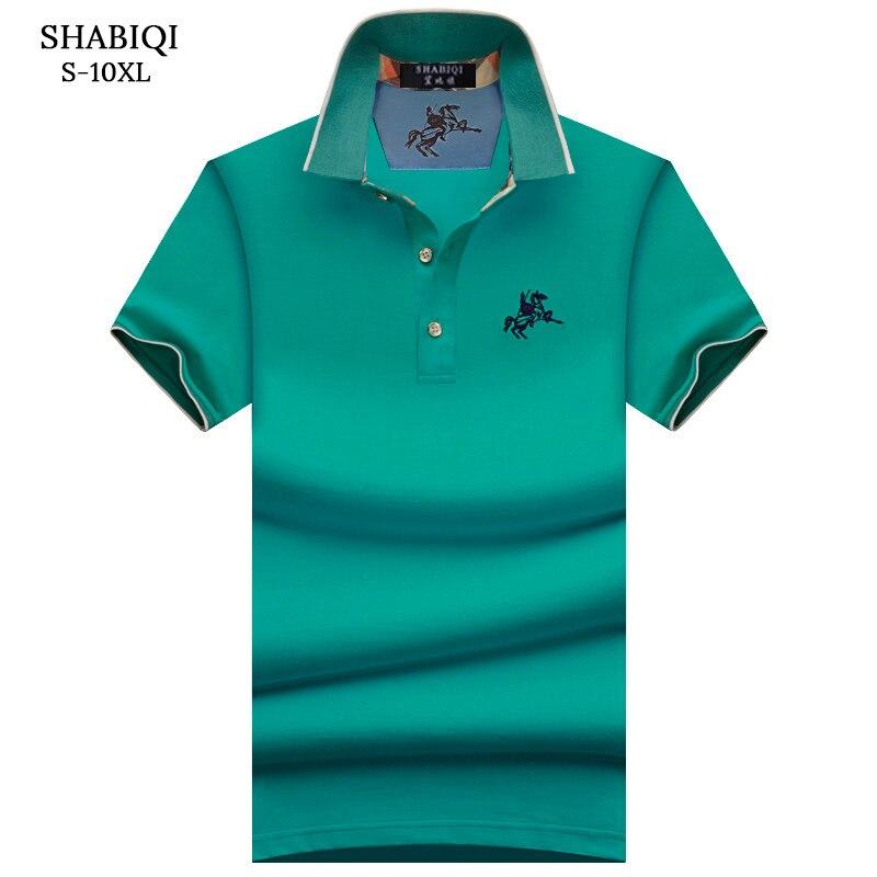 Plus Size S-10XL Brand New Men's Polo Shirt Men Cotton Short Sleeve Shirt Brands Embroidery Mens Shirts Polo Shirts