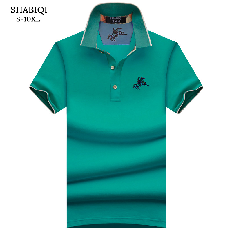 Plus Size S-10XL Brand New Men's Polo Shirt Men Cotton Short Sleeve shirt Brands Embroidery Mens Shirts polo shirts