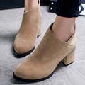 2016 Nueva Llegada Del Otoño y El Invierno de Las Mujeres Botas de Moda Británica estilo de Las Mujeres Zapatos de Invierno Botas Botines para Mujer Talla 35-39