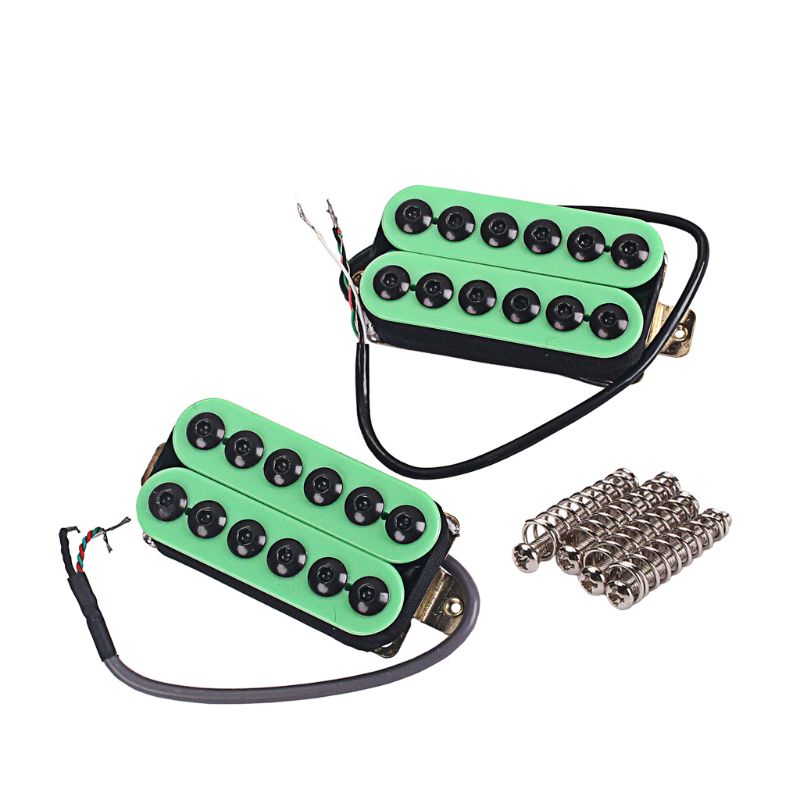Green Humbucker Pickup Neck and Bridge for Electric Guitar Parts Adjustable