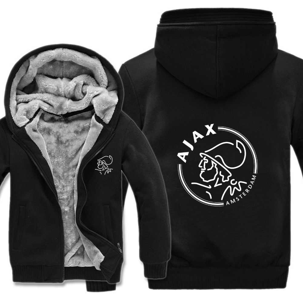 Large size 5XL men's hoodies 2019 Ajax Hoodies Jacket Winter Men Pullover Man Coat Casual Wool Liner Fleece Sweatshirts
