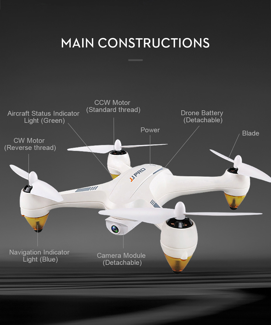 JJRC JJPRO X3 GPS Drone with Camera 1080P RC Quadcopter Profissional Brushless Motor 00mAh Battery GPS Positioning 17