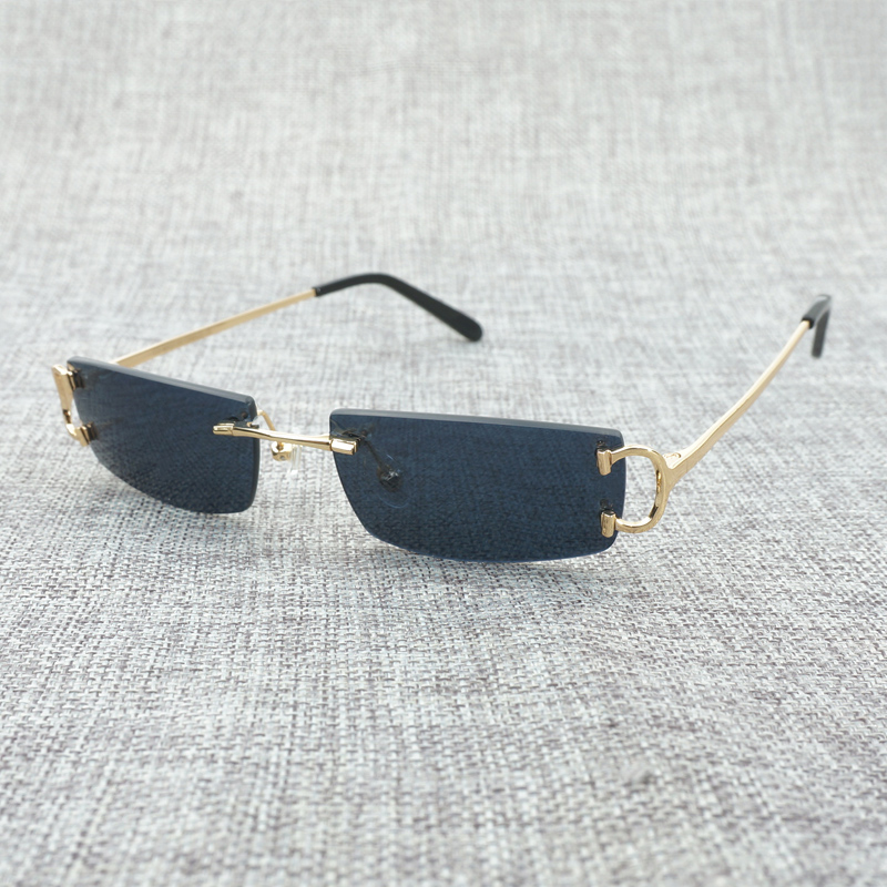 85dbccea4e2cc Vintage Small Clear Glasses Mens Fashion Rimless Black Sunglasses Oculos De  Sol 2018 Shades for Men