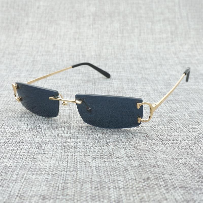 Vintage Petit Effacer Lunettes Hommes De Mode Sans Monture Noir lunettes De Soleil Oculos De Sol 2018 Nuances pour Hommes De Luxe Lunettes Lunettes Cadre