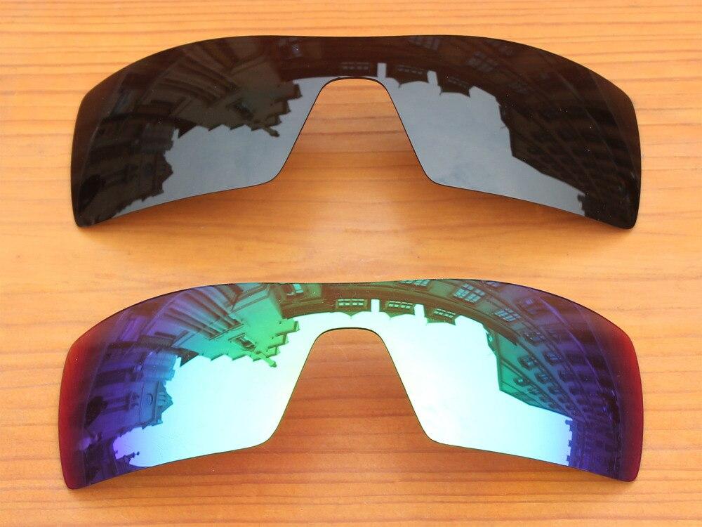 Negro y Verde Esmeralda 2 Unidades Polarizado Lentes De Repuesto Para  Plataforma Petrolera gafas de Sol de Marco 100% UVA y Uvb 308dbc9dc0