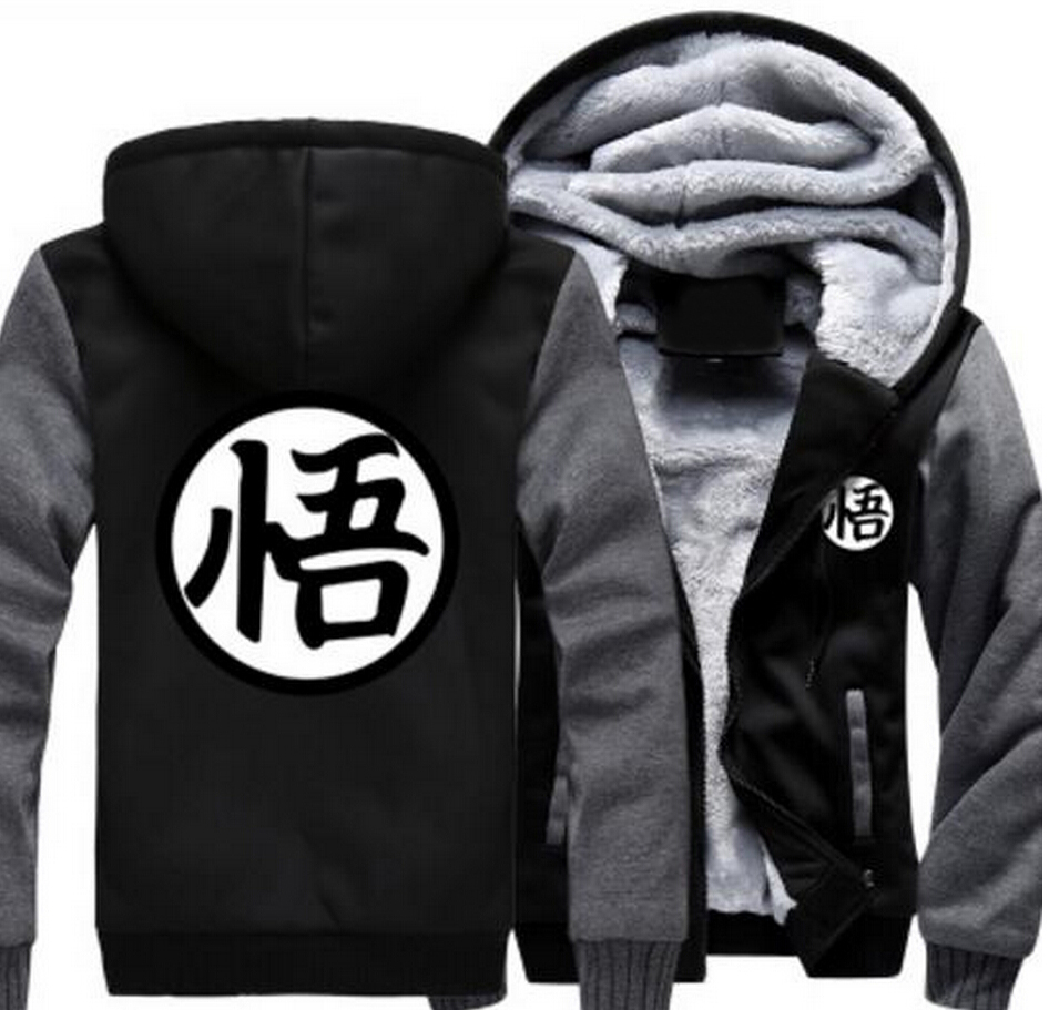 COYOUNG Brand US Size Men Women Hoodies Dragon Ball Goku Zipper hoodies Casual Sweatshirts Thicken Custome made Hoodie Coat