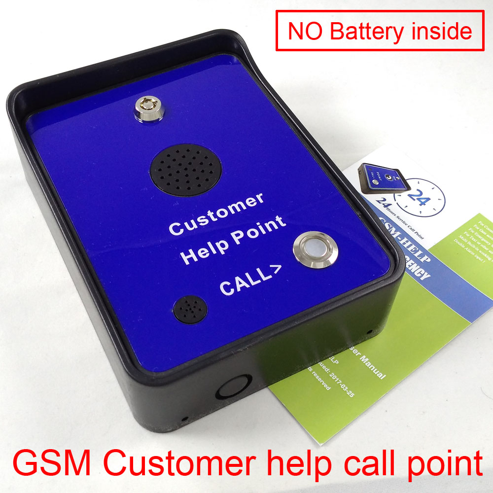 GSM handfree audio visitor customer service help call point intercom box for emergency help calling wireless restaurant calling system 5pcs of waiter wrist watch pager w 20pcs of table buzzer for service