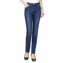 WAEOLSA Woman Casual Denim Pant Blue Jeans Staight Trouser Women Leisure Slim Fit Jeans Pantalones Mujer Zipper Fly Denim Pant цена