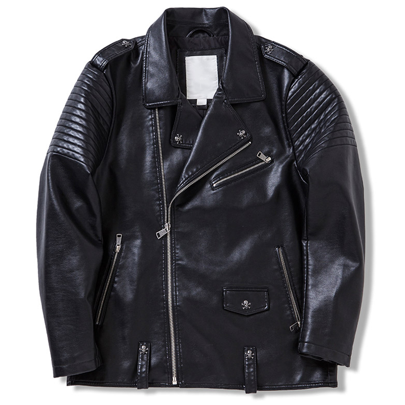 European Country Mens Motorcycle Leather Jackets Pattern Mens Biker Leather Jackets Famous Brand Mens Coats Cool Fashion S801