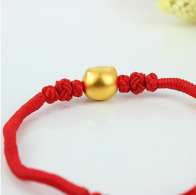Aliexpress Com New Arrival Red Colour String 999 24k Yellow Gold 12 Chinese Zodiac Pig Bracelet From Reliable Men Suppliers On
