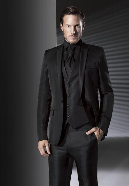 Últimas Bragas de la Capa Diseños Negro Satén de Los Hombres Traje Formal  Slim Fit Chaqueta 4facd242c5f
