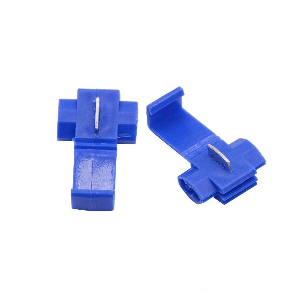 50 PCS הכחול ויסקי הנעילה מהיר אחוי 18-14 AWG חוט מחבר 802P3