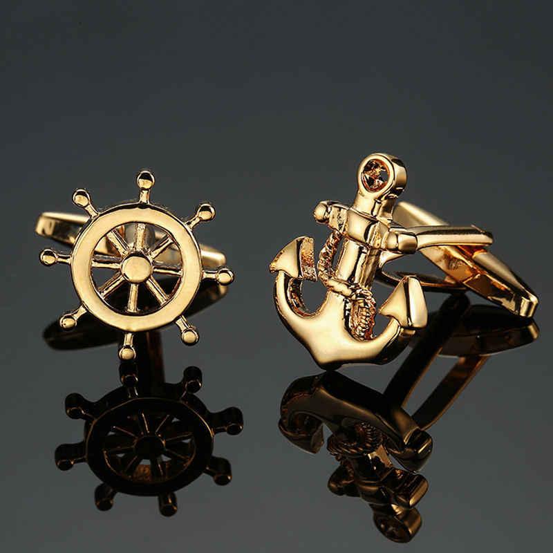 Прямая продажа с фабрики оптовая продажа запонки для французских рубашек Запонки кнопки золотые серебряные мужские модные брендовые двойные кожаные запонки