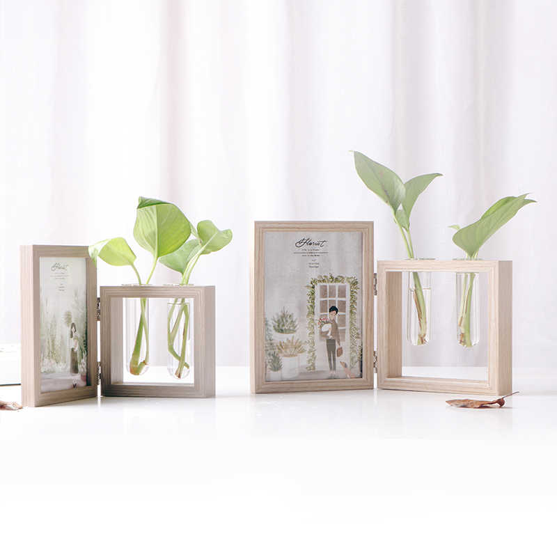 Creative Nordic Photo Frame Pendulum Retro Double-sided Photo Frame Hydroponics New Image Frame Home Decoration Crafts Ornaments