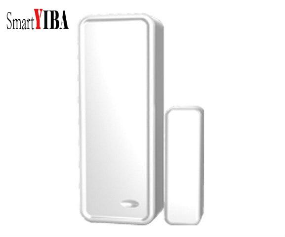 SmartYIBA 433MHz Wireless Magnetic Door Sensor Detector Door Contact Detect Door Close Open For G90B WIFI GSM Alarm System