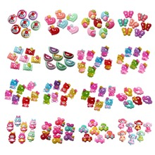 50Pcs Mixed Resin Cats Flower Decoration Crafts Beads Flatback Cabochon Scrapbooking DIY Embellishments Kawaii Diy Accessories