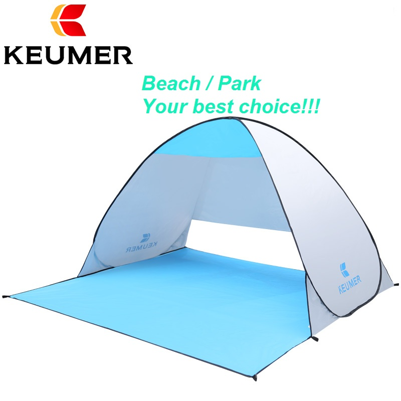 KEUMER XL 3-4 person quick automatic opening beach tent LARGE size Anti UV sun shelter Awning Pop Up tent