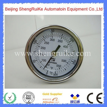 Adjustable  industrial thermometer 0-300C , SS 304 case, best price ,good quality, best sell