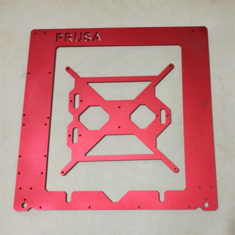 Horizon Elephant Reprap Prusa i3 rework 6mm Aluminium Frame kit red color Anodized 6mm aluminm alloy RepRap Mendel 3D Printer horizon elephant reprap prusa mendel i3 smooth rod screw rod screw kit for diy 3d printer