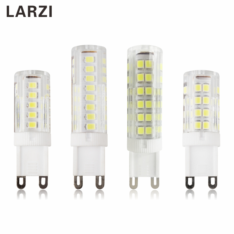 LARZI G9 LED Lamp Light 3W 5W 7W SMD 2835 AC 220V 230V 240V Ceramic LED Light Bulb Replace Halogen G9 For Chandelier