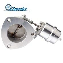 """ESPEEDER 2,"""" 63 мм из нержавеющей стали вакуумный активированный выпускной клапан управления повышающий привод Выпускной вырез клапан"""
