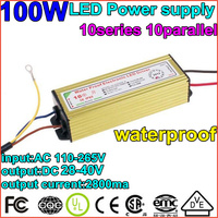 1X100W driver Waterproof Constant Current Driver10series10parallet100w ball LED Driver Power Supply85 265V to DC20 40V Wholesale