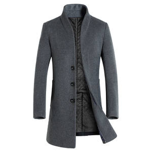 Long Overcoat Woolen-Jackets Business Autumn Men's Winter New-Fashion Casual Solid Boutique