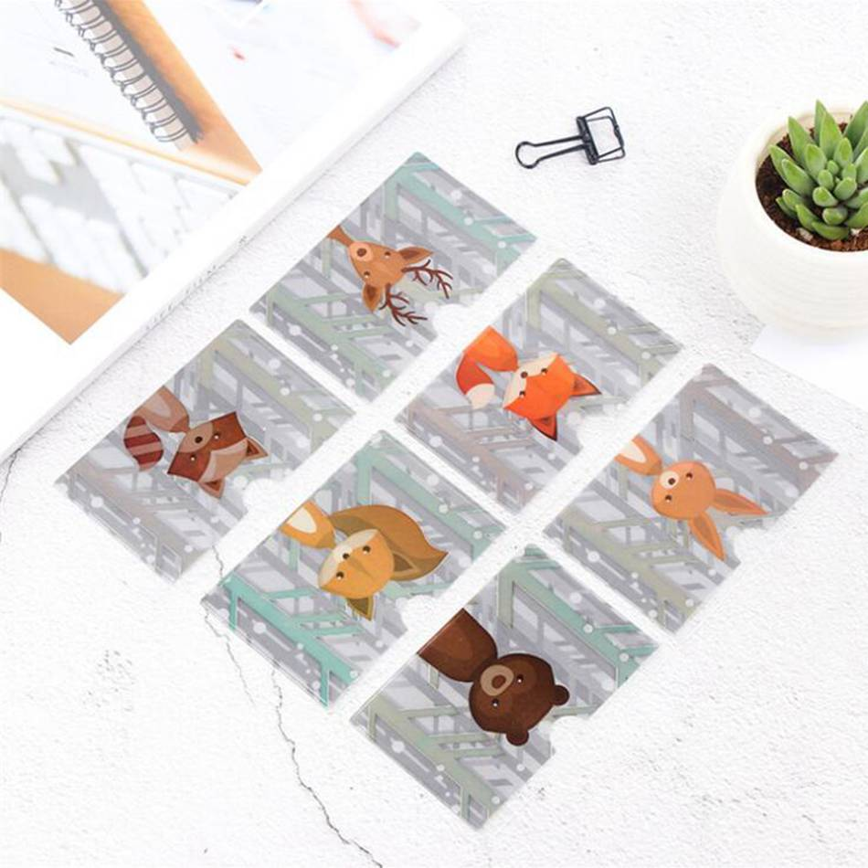 Animal PVC Card Holder Credit Student Cute Women ID Business Bancaire Cards Bag Wallet Passport Card Holder Protector thinkthendo new male genuine cow leather wallet card package retro woven passport business cards holder