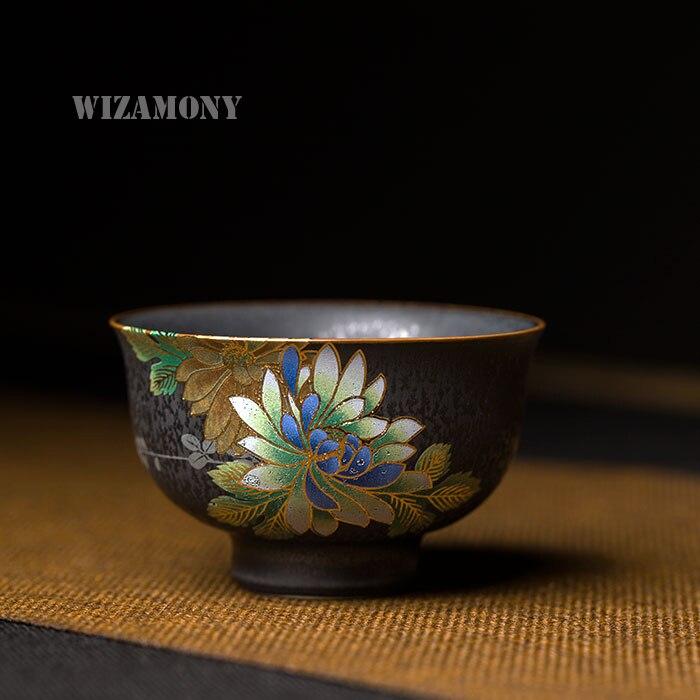 1 PCS Chinese Color Emboss Peony Master Cup Porcelain Teacups teapot Tea Cup Teacup Bowl China teaset Tea Pot Crackle Tea Set