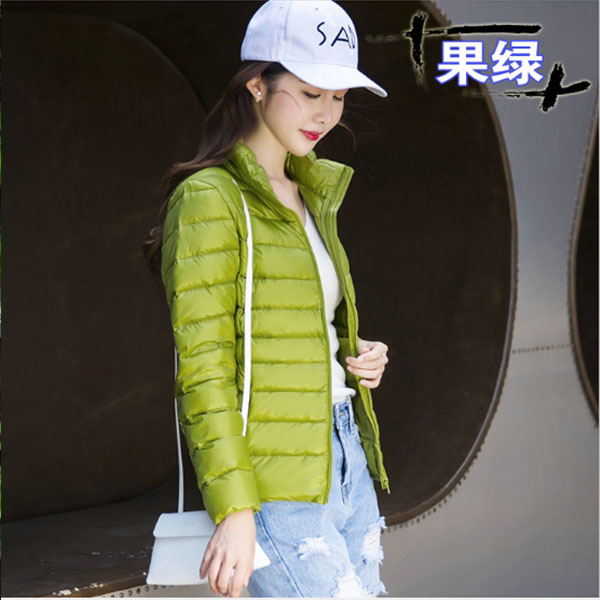 Women's blue/black/pink   Down     Coat   Ultra Light   Down   Jacket Women With Carry Bag Travel Double Side Reversible Jackets Plus size