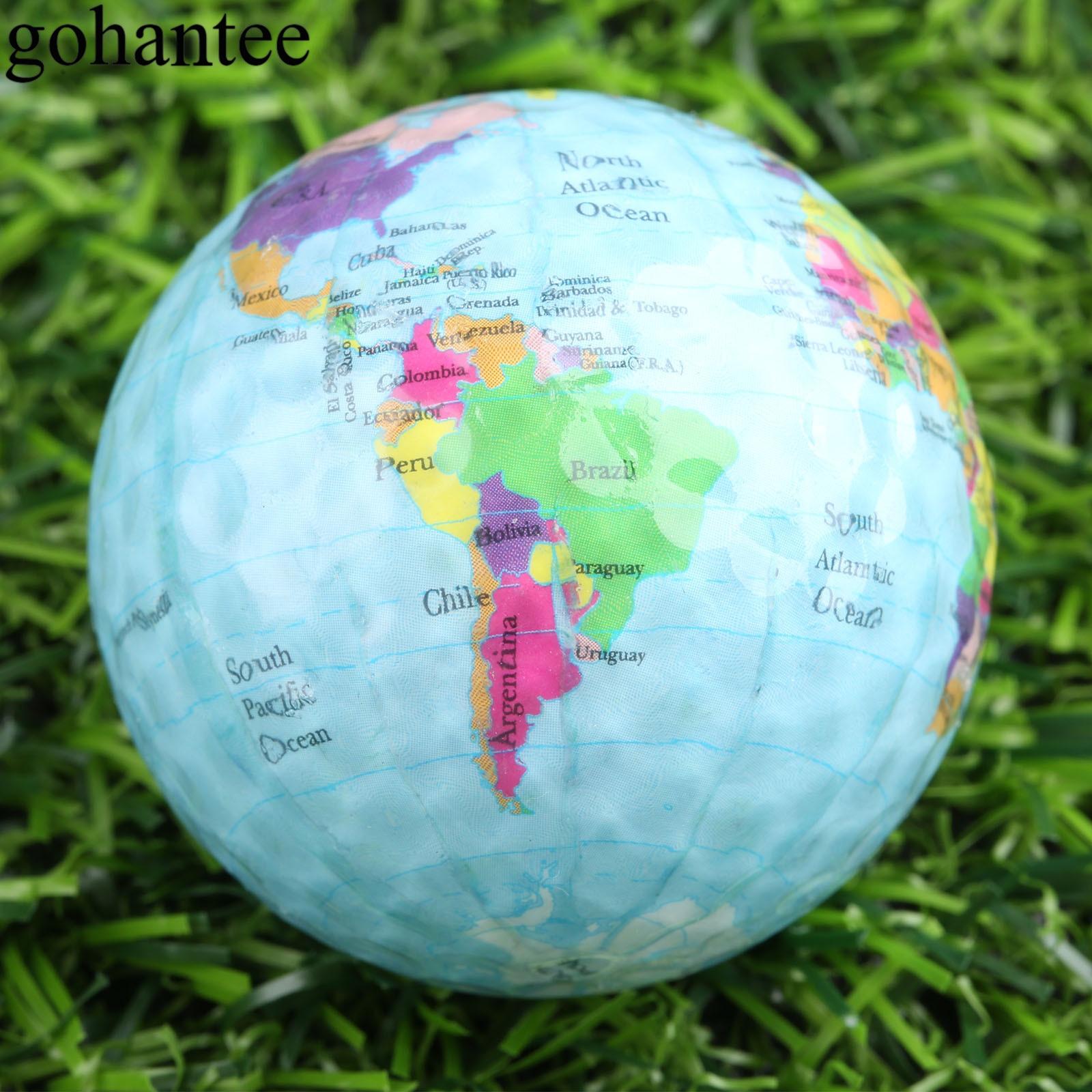 Gohantee 3 pçs lote globo mapa cor