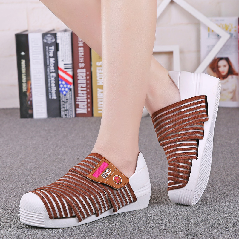 ФОТО Summer new 2016 stretch fabrics fashion shoes Korean version of the trend of hand-woven women casual shoes DT437