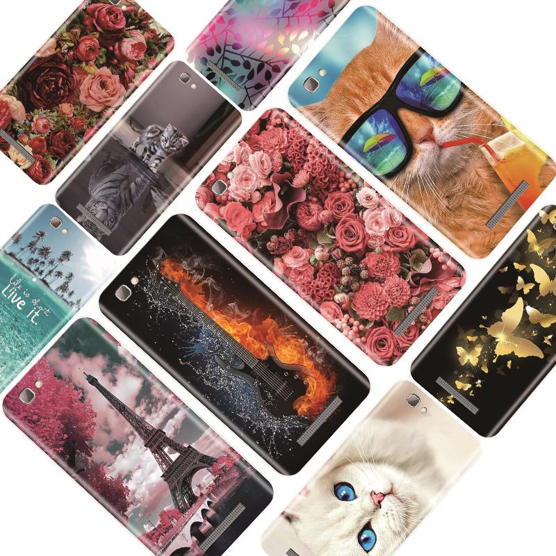 Phone Case For ZTE Blade A610 A520 A521 A510 A452 Soft Silicone Flower Painted Back Cover For ZTE A610 A520 A521 A510 A452 Case