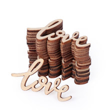 18Pcs/set Rustic Wooden Love Letters Decor Vintage Chic Craft Scrapbook Confetti Wedding Party Table Decorations Valentine's Day(China)