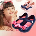 Girls Kids New Shoes Cute Bow girls Sandals Baby Rubber Mini Children shoes Bow Summer Sandals rain boot zapatos