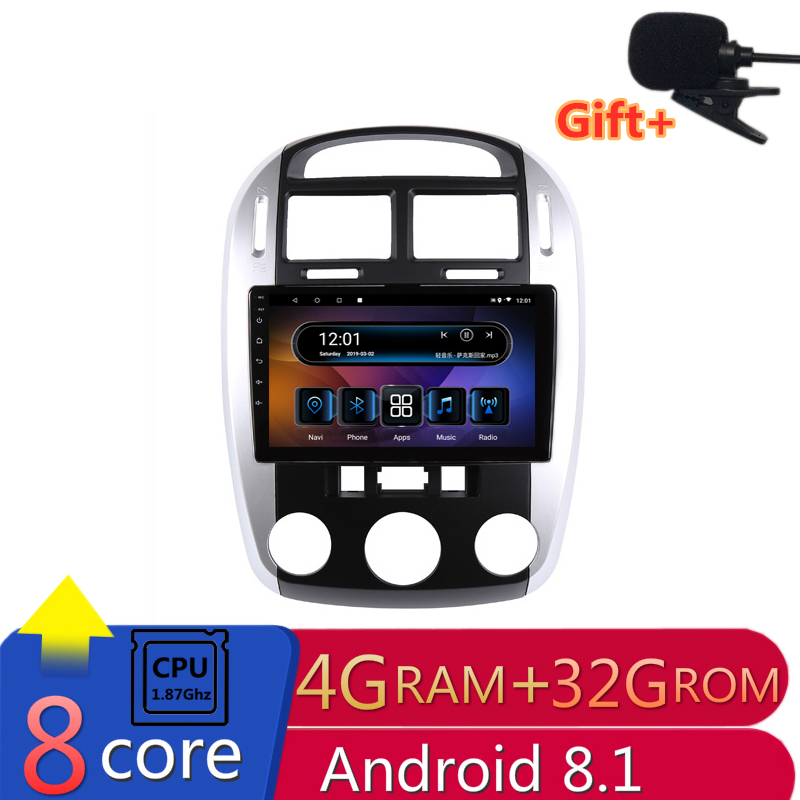 9 inch 4G RAM 8 cores Android Car DVD GPS Navigation for kia cerato 2007 2008-2012 audio stereo car radio headunit wifi