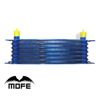 MOFE Racing High Quality Universal 7 Row 10AN Aluminum Oil Cooler Blue