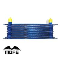 MOFE Racing High Quality Universal 7 Row 10AN Aluminum Oil Cooler Blue