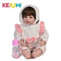 Collectible Soft Silicone 24'' 60 cm Reborn Dolls Lifelike Princess Girl Newborn Baby Doll Kid Christmas Birthday Gifts Playmate