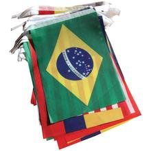 Brazil World Cup Fabric Bunting- All 32 Flags 9 Metres (Flag size: 14cm x 21cm)(China)