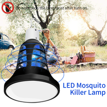 E27 Led Lampara Moustikiller 220V Electric Mosquito Killer Lamp 110V Insect Trap Pest Light USB 5V Outdoor Camping Bulb