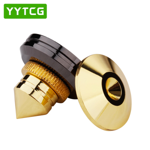 Image 2 - YYTCG 4 Sets  speakers Stand Feet Foot Pad Pure copper gold loudspeaker box Spikes Cone Floor Foot Nail M28*26
