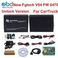 2018 FG TECH Galletto 4 V54 0475 OBD2 ECU Programming Tool FGTECH Hardware 0475 European Master Version Add BDM Tri core CAN