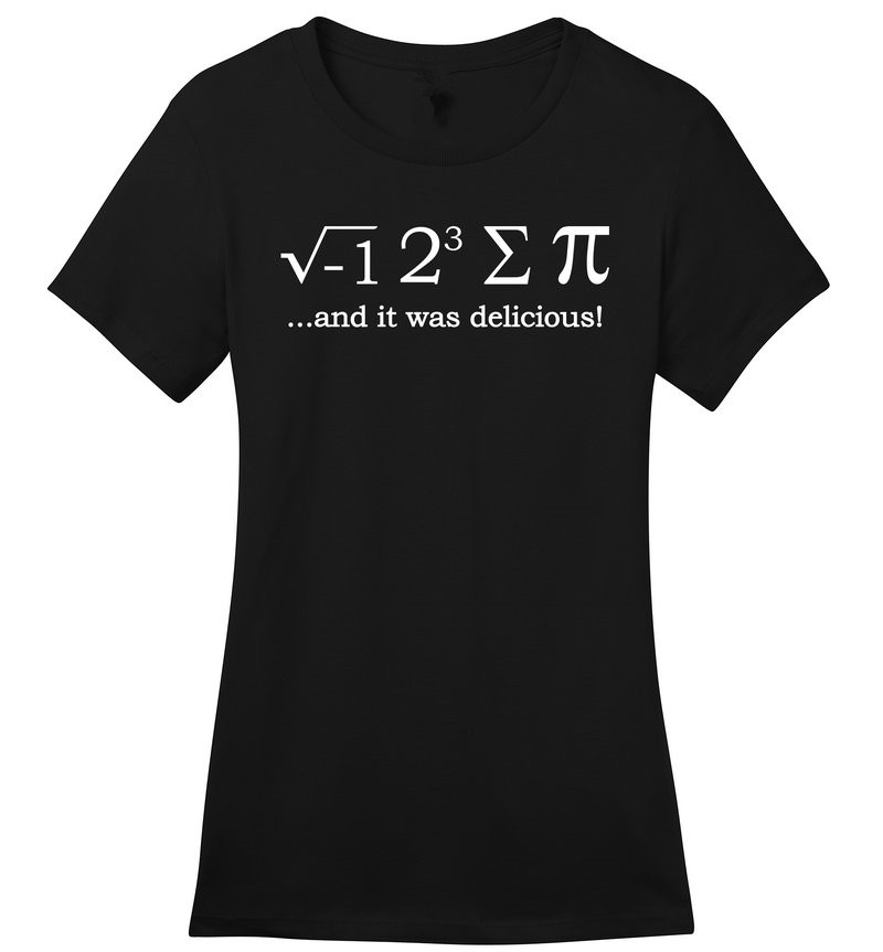 Gildan Tops Tees T Shirt Top O-Neck Short-Sleeve Womens I 8 Sum Pi Funny Math Soft Cute Pi Day School College Teacher T Shirt