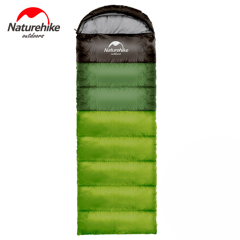 Naturehike Outdoor camping adult Sleeping bag waterproof keep warm three season spring summer sleeping bag for Camping Travel цены