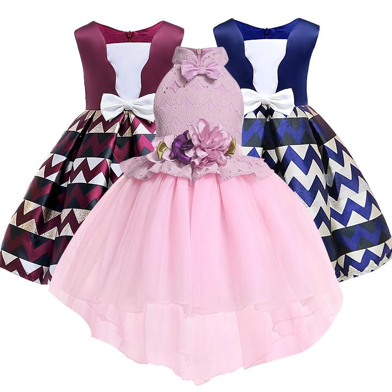 где купить Summer Christmas Flower Girls Dress Girl Clothing Sleeveless Princess Dresses Girl Costume Kids Clothes по лучшей цене