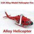 1 : 64 сплав модель вертолет, Пожарные вертолеты модель, Литье металла, Детская любимые развивающие игрушки, Бесплатная доставка